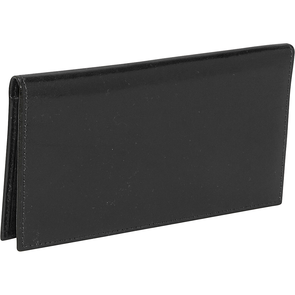 Bosca Old Leather Checkbook Wallet Black