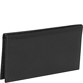 Old Leather Checkbook Wallet Black