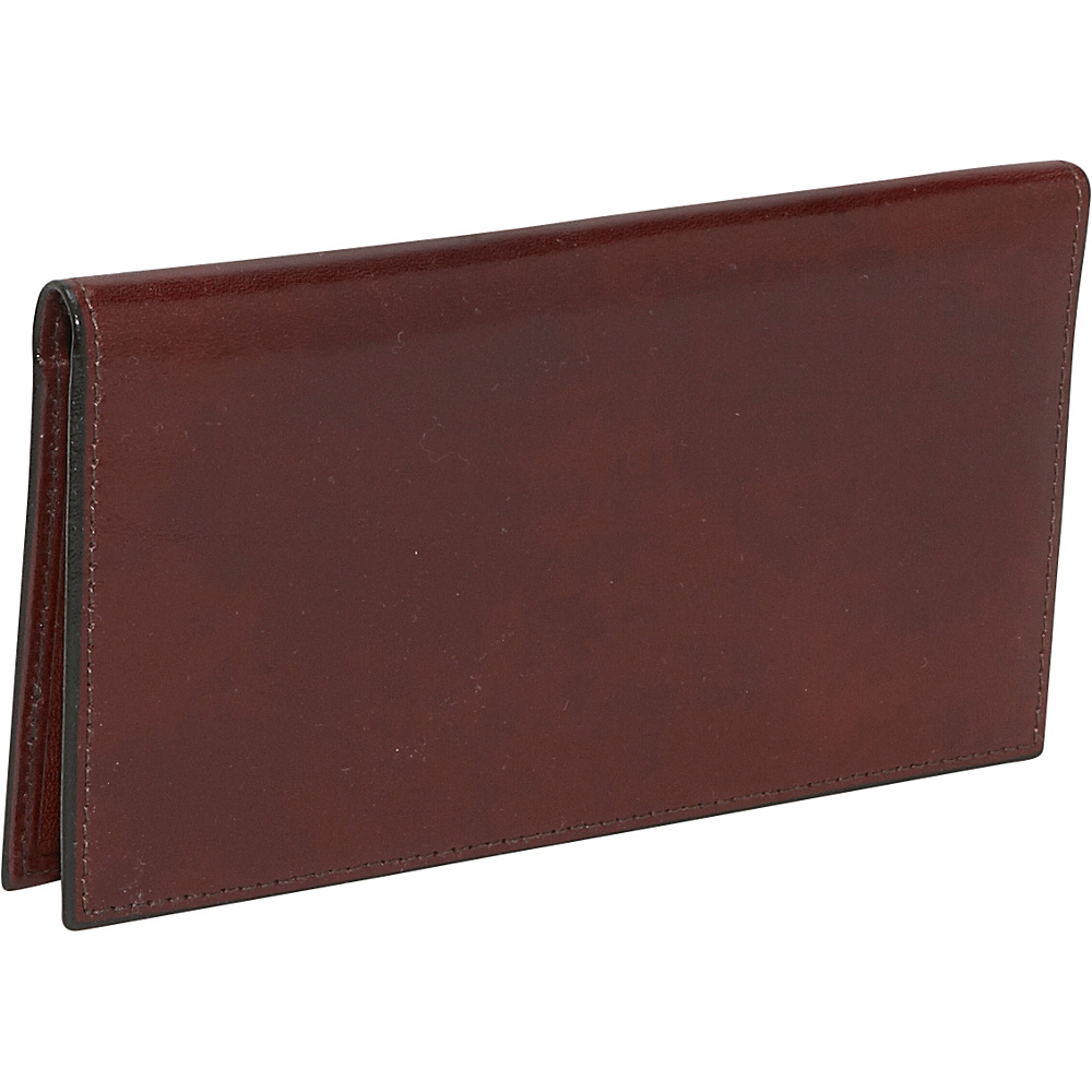 Bosca Old Leather Checkbook Wallet Dark Brown