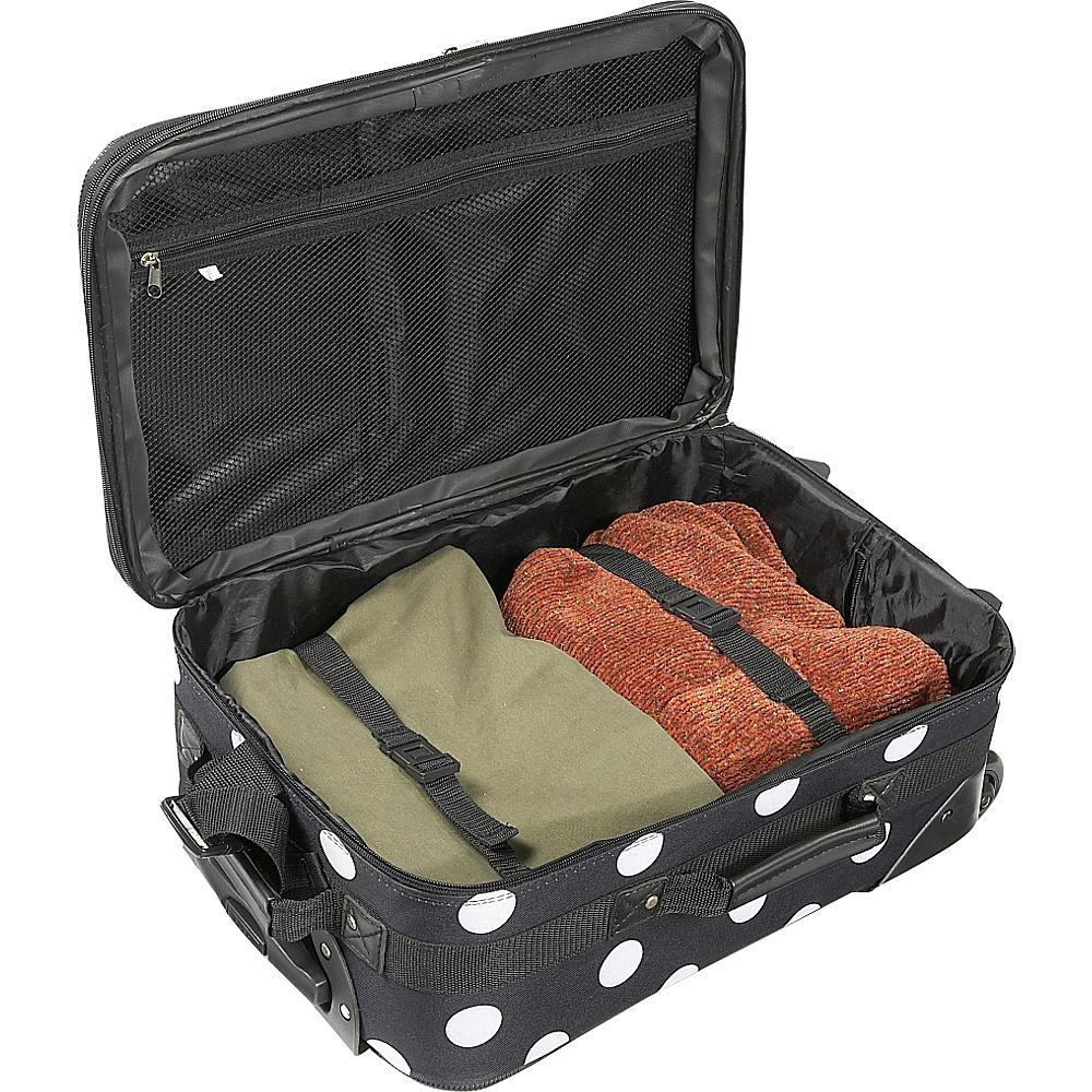 Rockland Luggage Polka Dot 4-Piece Expandable Luggage Set Pink Dot - Rockland Luggage Luggage Sets