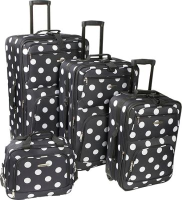 Rockland Luggage Polka Dot 4-Piece Expandable Luggage Set - eBags.com