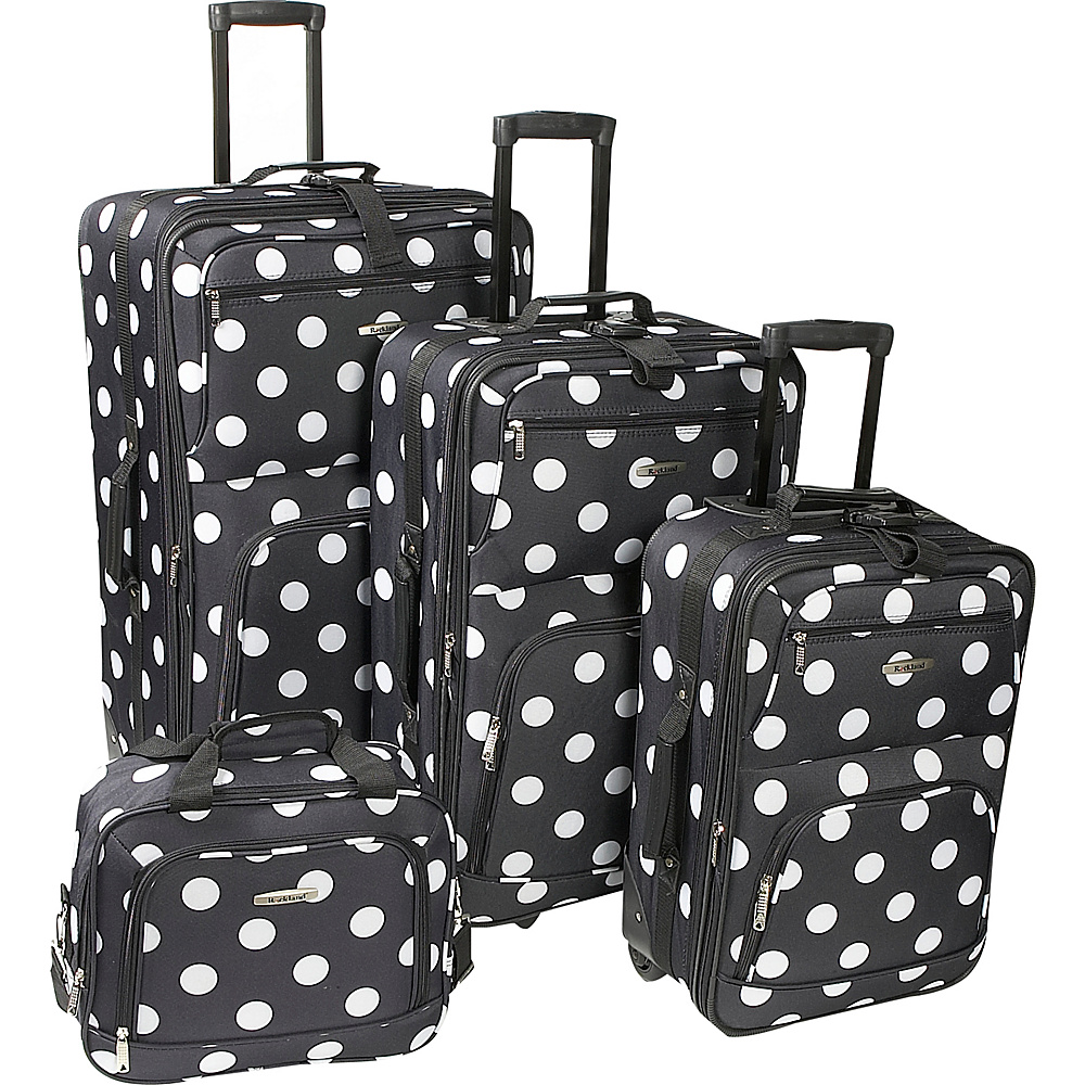 Rockland Luggage Polka Dot Expandable 4 Piece Luggage - Luggage, Luggage Sets