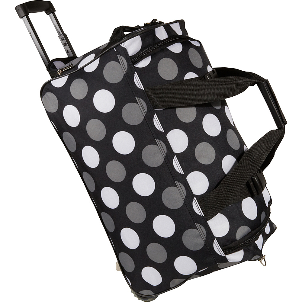 "Rockland Luggage 22"" Rolling Duffle Bag - New Black Dot"