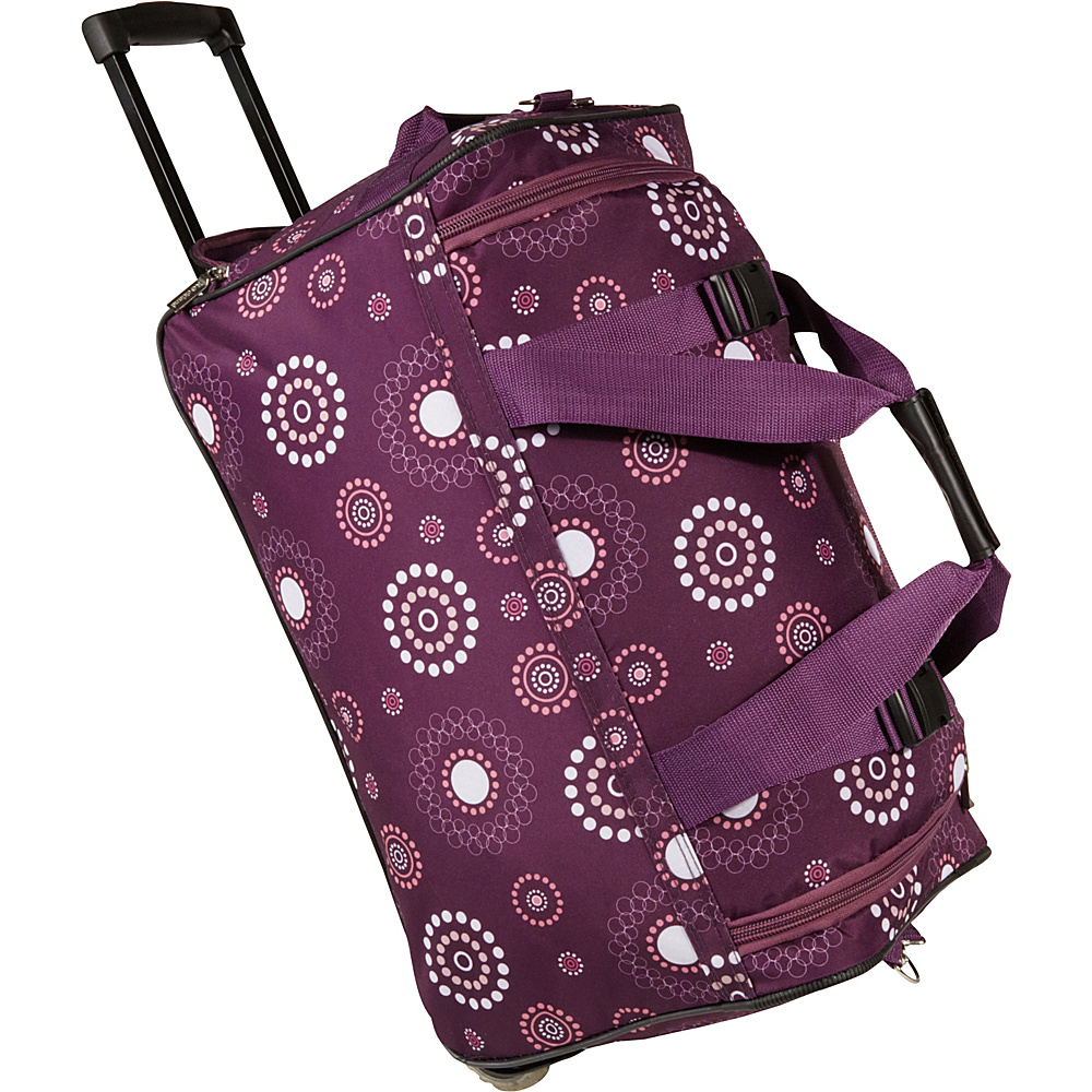Rockland Luggage 22 Rolling Duffle Bag Purple Pearl - Rockland Luggage Softside Carry-On - Luggage, Softside Carry-On