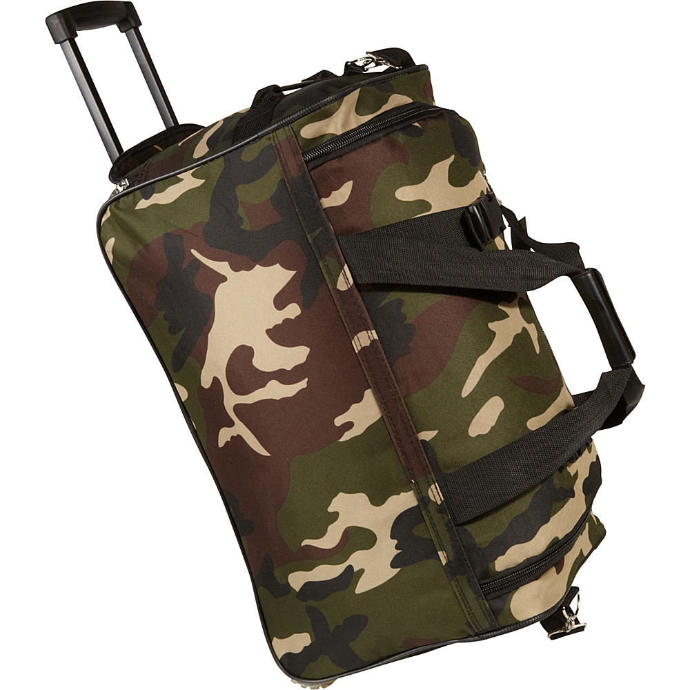 Rockland Luggage 22 Rolling Duffle Bag - Camouflage - Luggage, Softside Carry-On