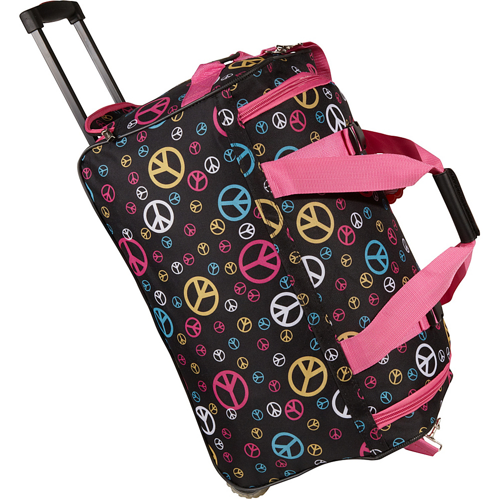 "Rockland Luggage 22"" Rolling Duffle Bag - Peace"