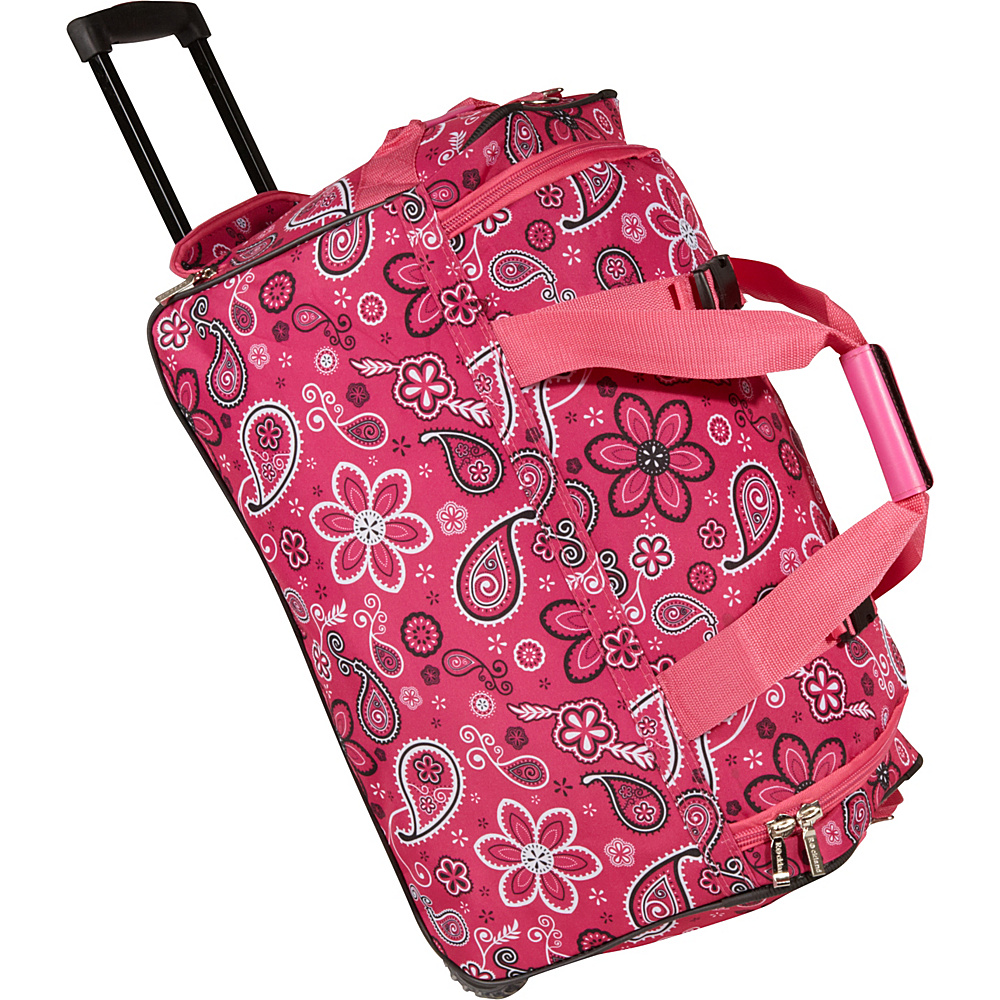 Rockland Luggage 22 Rolling Duffle Bag - Pink Bandana - Luggage, Softside Carry-On