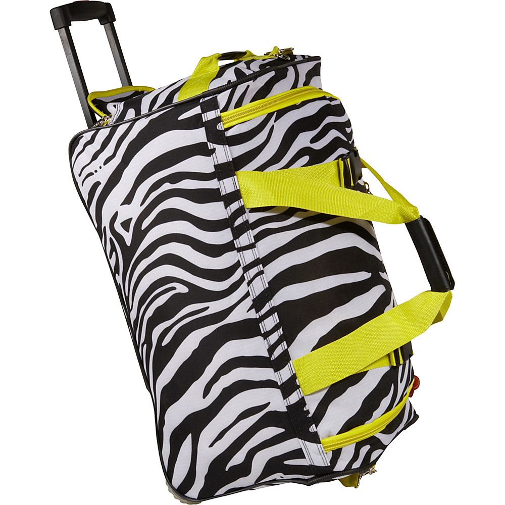 Rockland Luggage 22 Rolling Duffle Bag - Lime Zebra - Luggage, Softside Carry-On