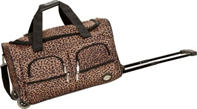 Rockland Luggage 22 inch Rolling Duffle Bag Leopard - Rockland Luggage Softside Carry-On