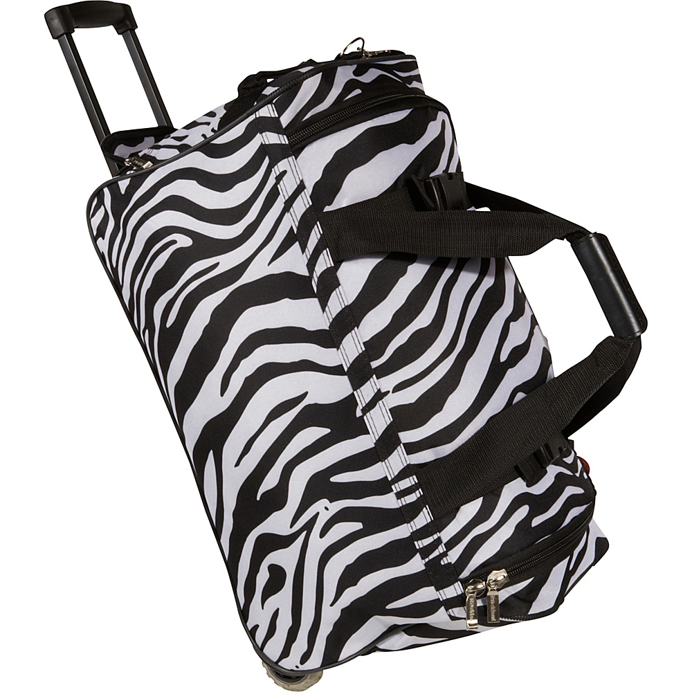 Rockland Luggage 22 Rolling Duffle Bag - Zebra - Luggage, Softside Carry-On