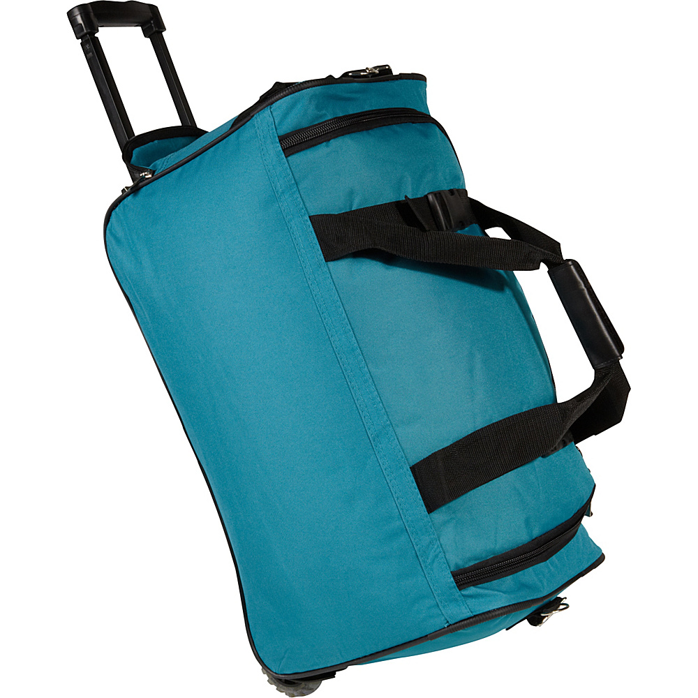 Rockland Luggage 22 Rolling Duffle Bag - Turquoise - Luggage, Softside Carry-On