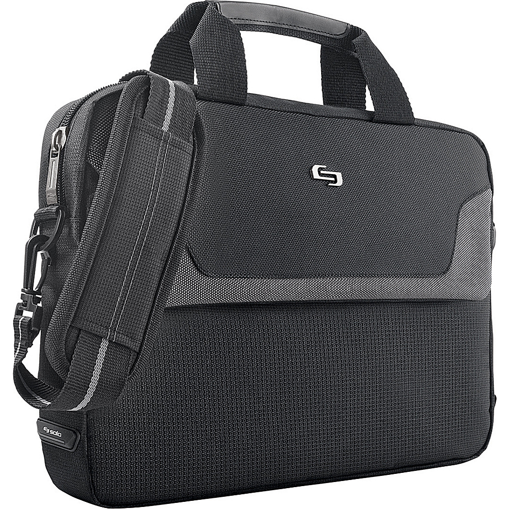 SOLO Sterling Laptop Slim Brief - Black - Work Bags & Briefcases, Non-Wheeled Business Cases