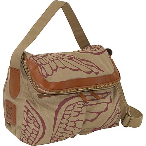 Make Love Not Trash Zip Flap Bag - Cross Body