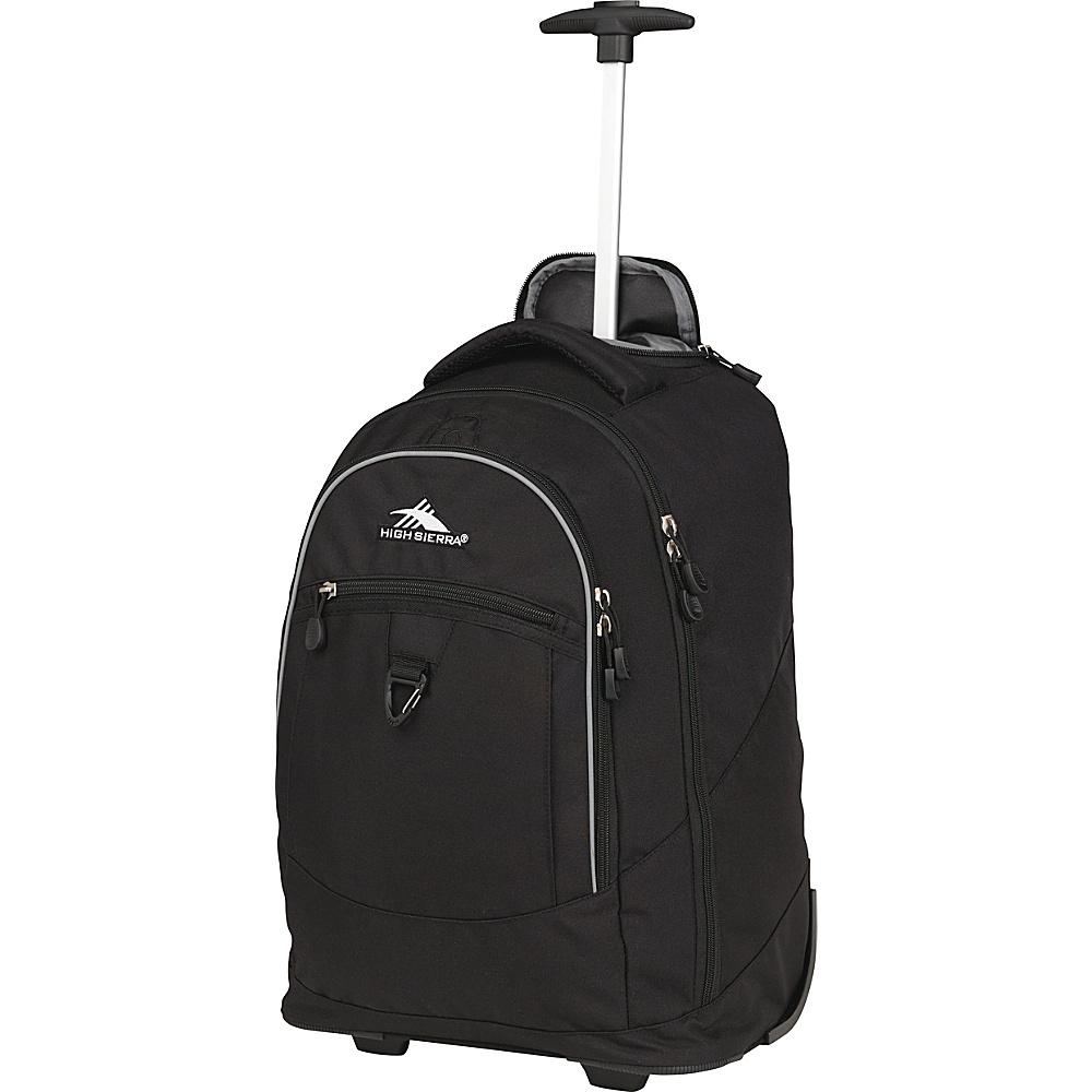 High Sierra Chaser Rolling Backpack Black High Sierra Rolling Backpacks