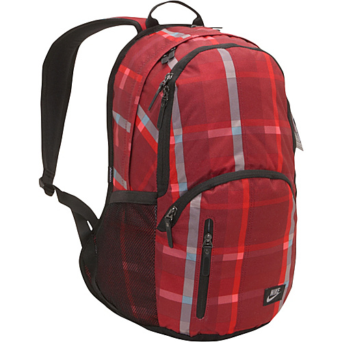 Nike Hayward 29L Backpack Challenge Red/Chlgrd/(Silver)-Blazer Gingham Print - Nike Laptop Backpacks
