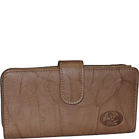 Heiress Checkbook Clutch Tobacco