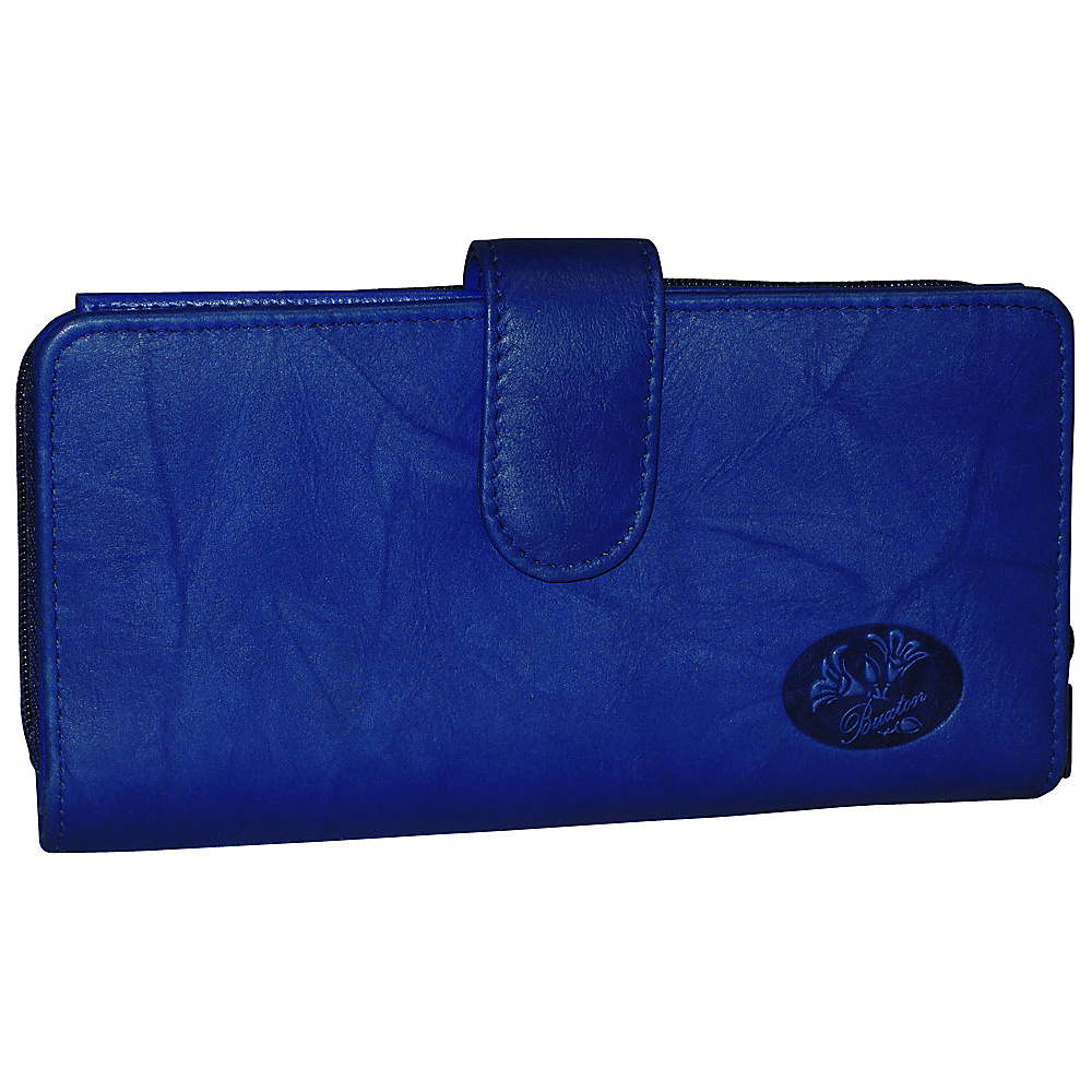 Buxton Heiress Checkbook Clutch Ultramarine Buxton Women s Wallets