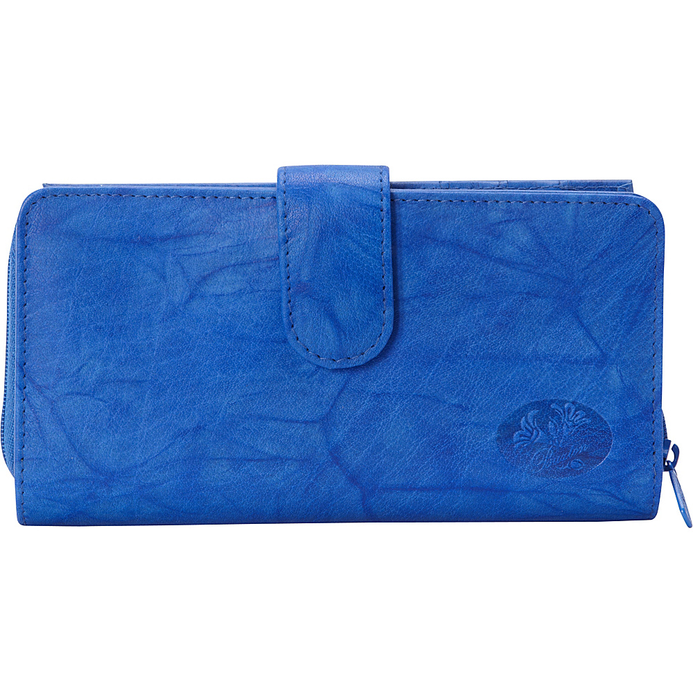 Buxton Heiress Checkbook Clutch Strong Blue - Buxton Womens Wallets - Women's SLG, Women's Wallets