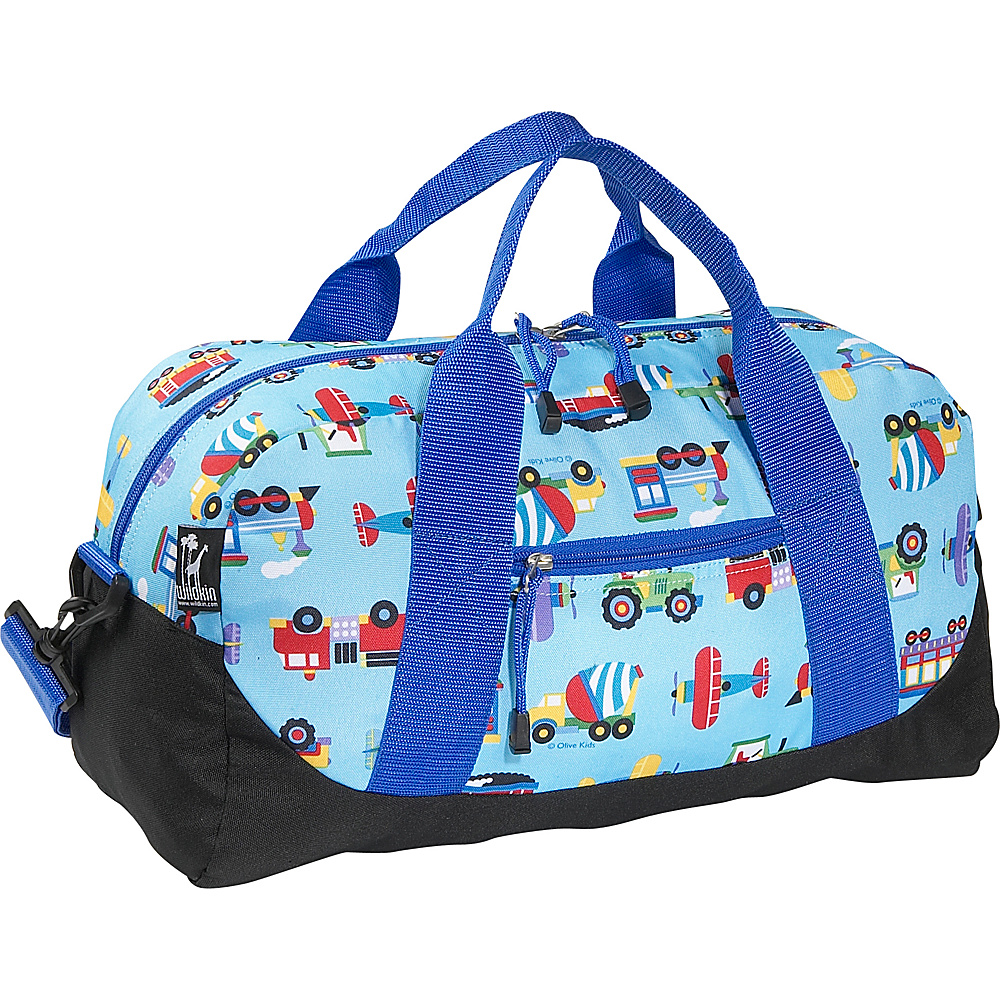 Wildkin Olive Kids Trains Planes Trucks Duffel Bag