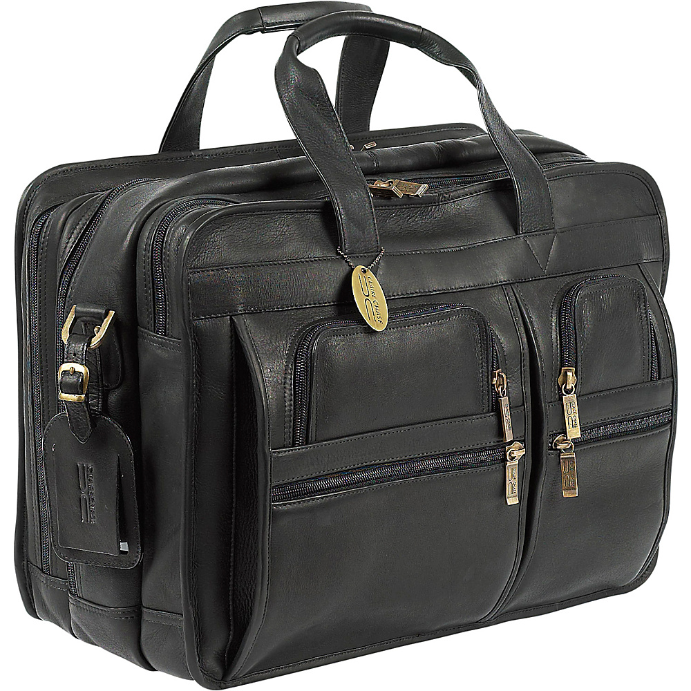 ClaireChase Executive Briefcase X-wide - Black - Work Bags & Briefcases, Non-Wheeled Business Cases