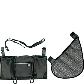 Stroller Accessory Set - Organizer and Cargo Net Black