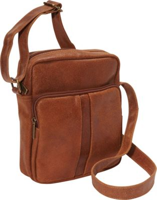 Le Donne Leather Distressed Leather Men's Day Bag Tan - Le Donne Leather Other Men's Bags