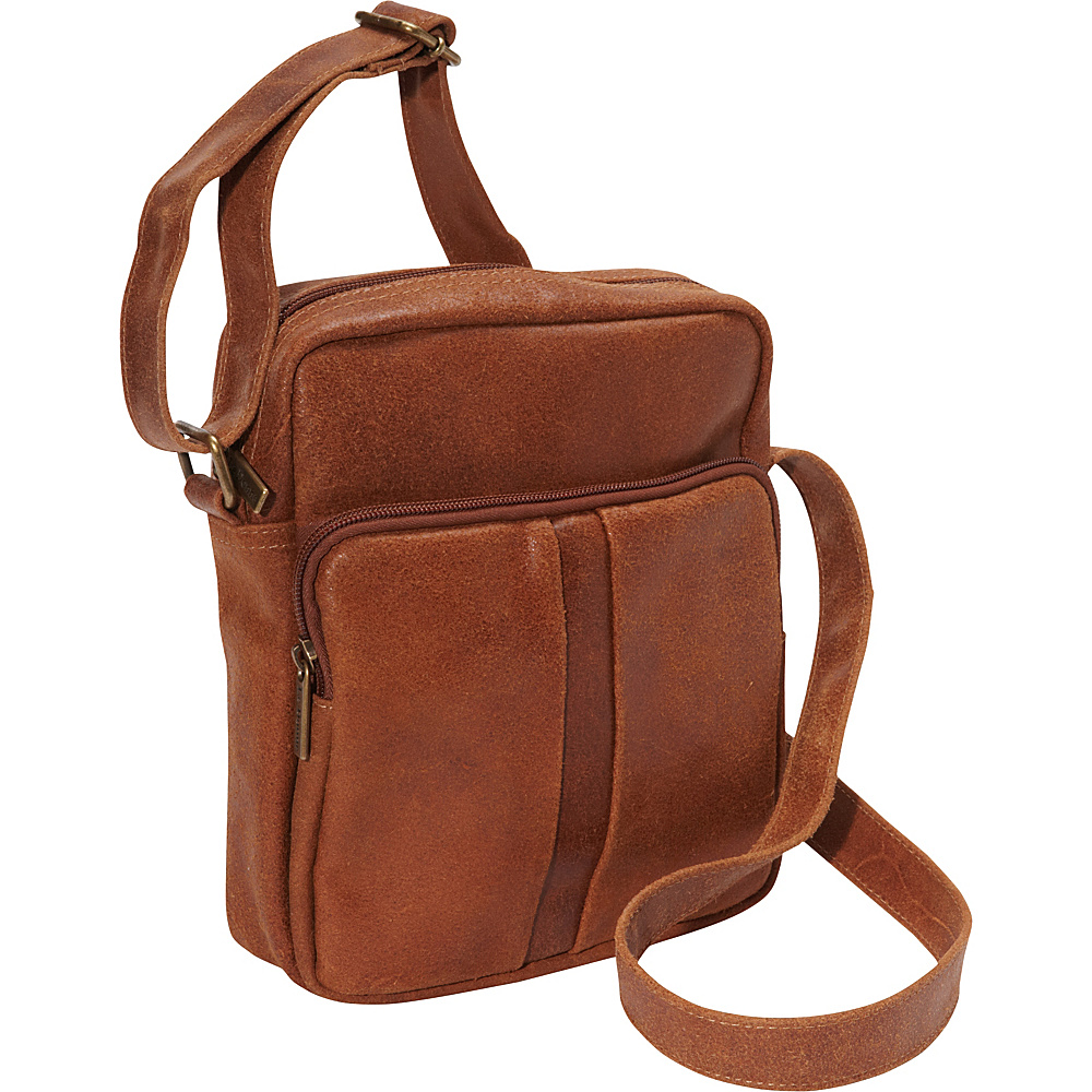 Le Donne Leather Distressed Leather Mens Day Bag Tan - Le Donne Leather Other Mens Bags - Work Bags & Briefcases, Other Men's Bags