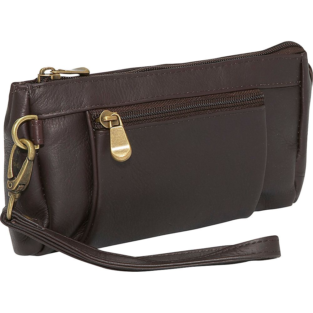 Le Donne Leather Large Wristlet Wallet - Caf - Women's SLG, Women's Wallets