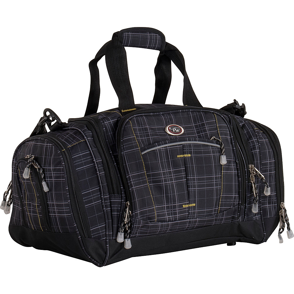 CalPak Silver Lake 22 Duffel Black Plaid
