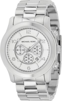 Michael Kors Watches Oversized Silver Runway - Silver