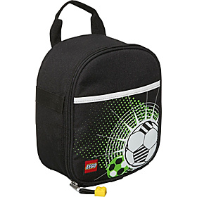 Vertical Lunch Bag - Soccer Black