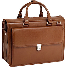 S Series Gresham Leather Litigator Laptop Brief Brown
