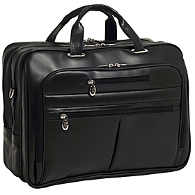R Series Rockford Leather Laptop Case Black