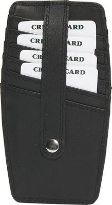 Derek Alexander Double-sided Credit Card Holder - Black