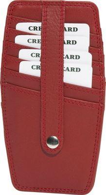 Derek Alexander Double-sided Credit Card Holder - Red