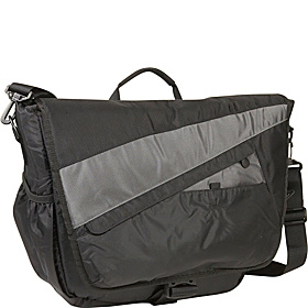 Velocity Nylon Messenger Bag Gray with Black