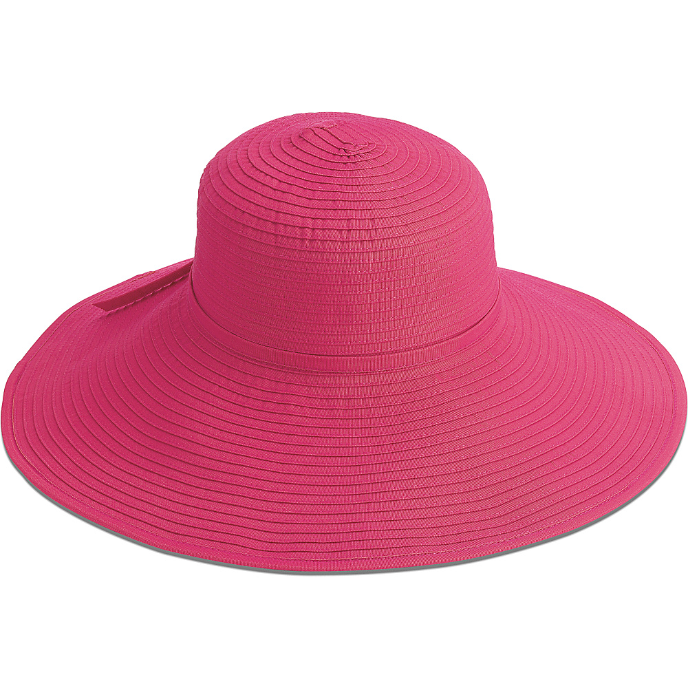 San Diego Hat Ribbon Crusher With 5 Inch Brim bright pink San Diego Hat Hats Gloves Scarves