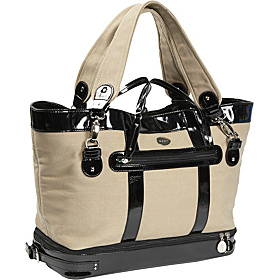 Canvas Diaper Bag Tan/Black