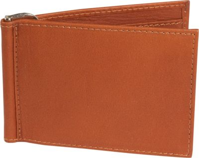 Piel Bi-fold Money Clip Wallet - Saddle