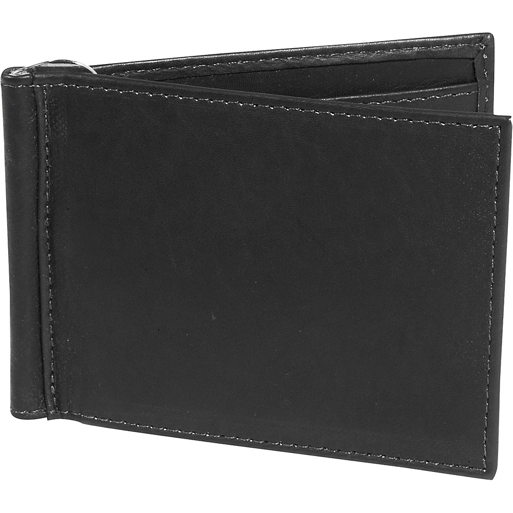 Piel Bi fold Money Clip Wallet Black Piel Men s Wallets