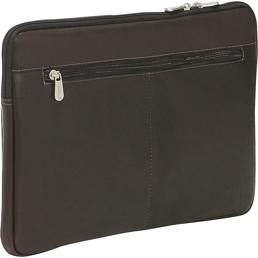 Piel 13 Zip Laptop Sleeve Chocolate