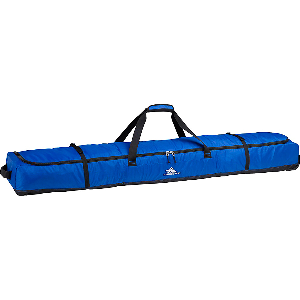 High Sierra Wheeled Double Ski Bag Vivid Blue/Black - High Sierra Ski and Snowboard Bags