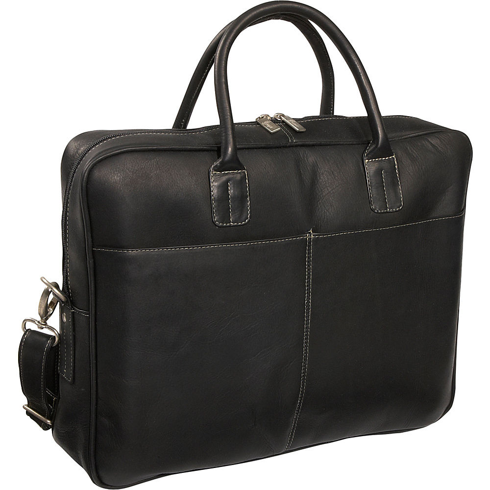 Royce Leather Vaquetta Nappa Brief - Black - Work Bags & Briefcases, Non-Wheeled Business Cases