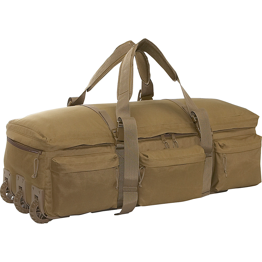 SOC Gear Rolling Load Out Bag - Coyote Brown, Coyote - Luggage, Softside Checked