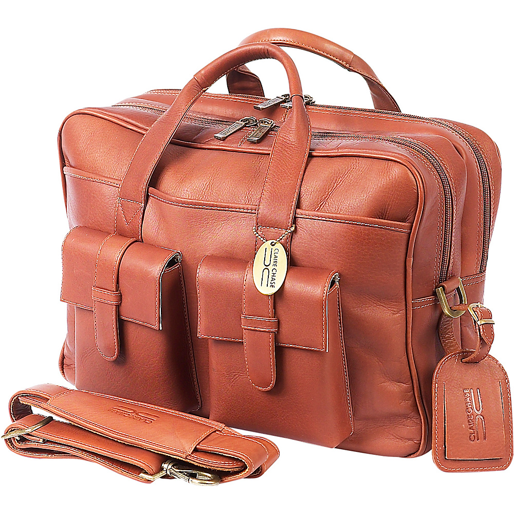 ClaireChase Platinum Computer Briefcase - Saddle - Work Bags & Briefcases, Non-Wheeled Business Cases