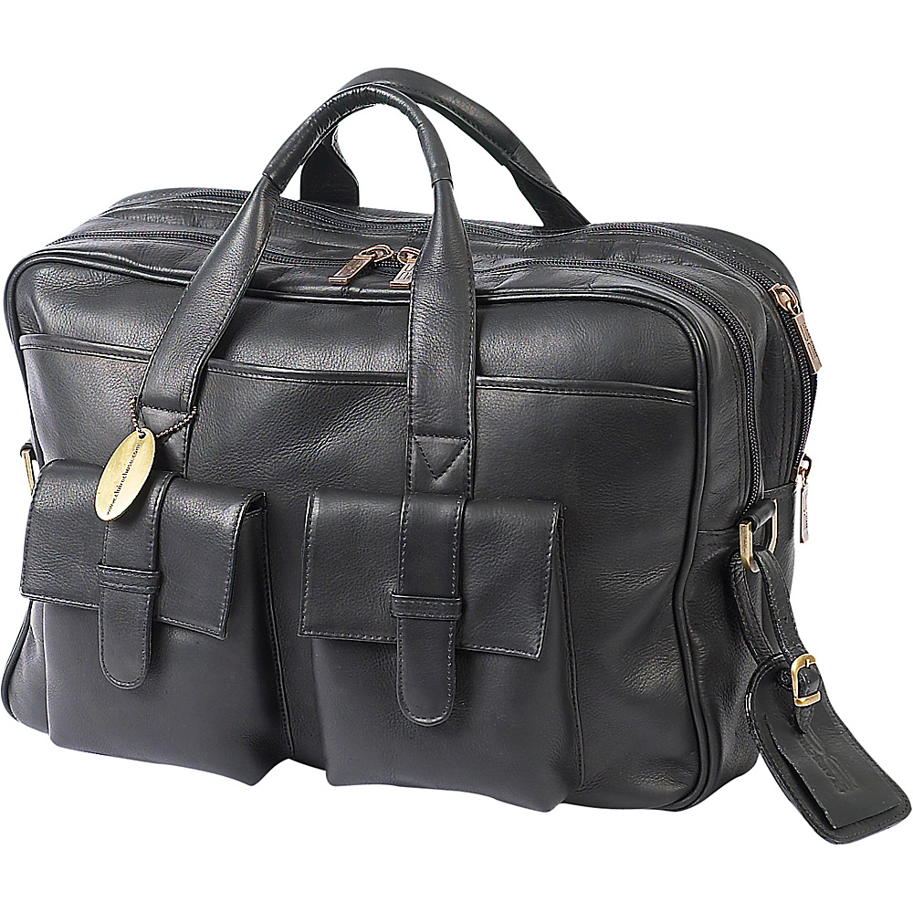 ClaireChase Platinum Computer Briefcase - Black - Work Bags & Briefcases, Non-Wheeled Business Cases