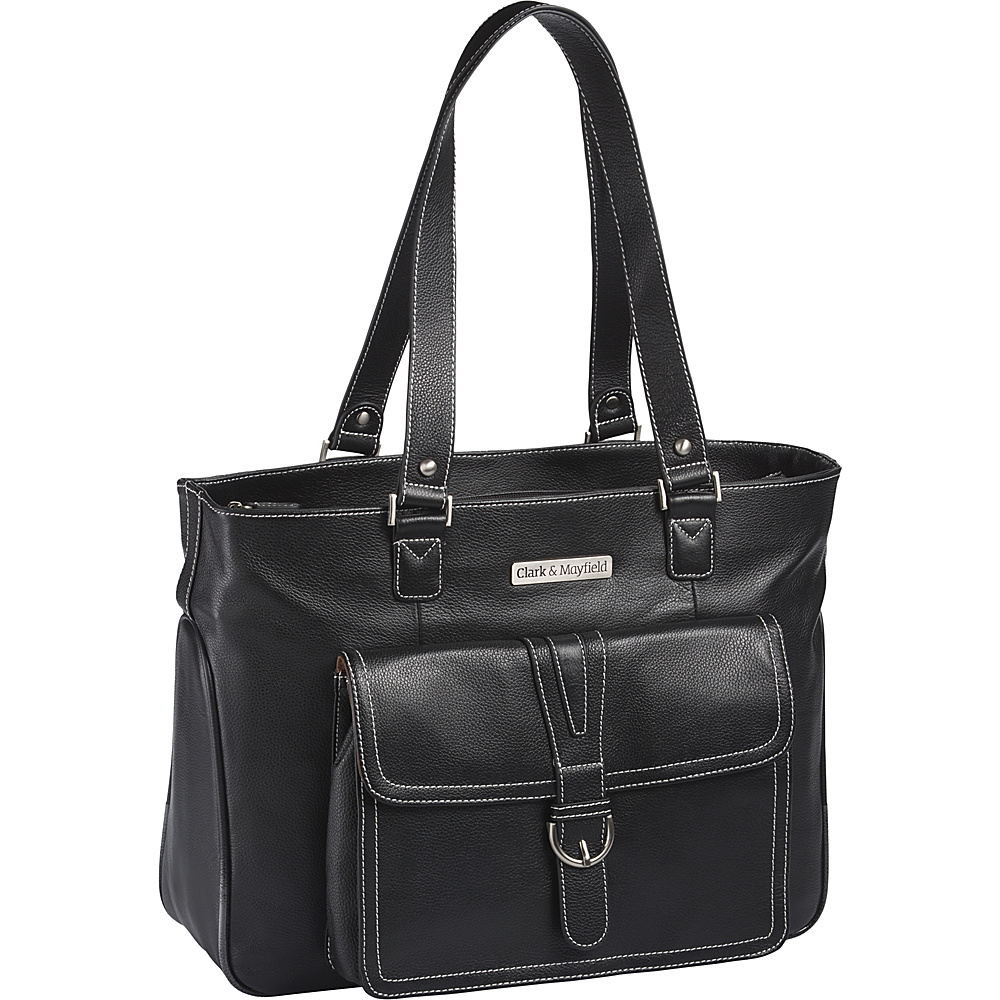 Clark & Mayfield Stafford Pro Leather Laptop Tote 15.6""