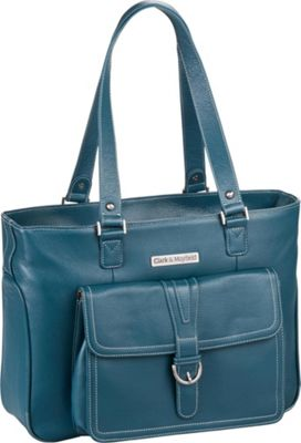 Clark & Mayfield Stafford Pro Leather Laptop Tote 15.6 inch Deep Teal - Clark & Mayfield Women's Business Bags