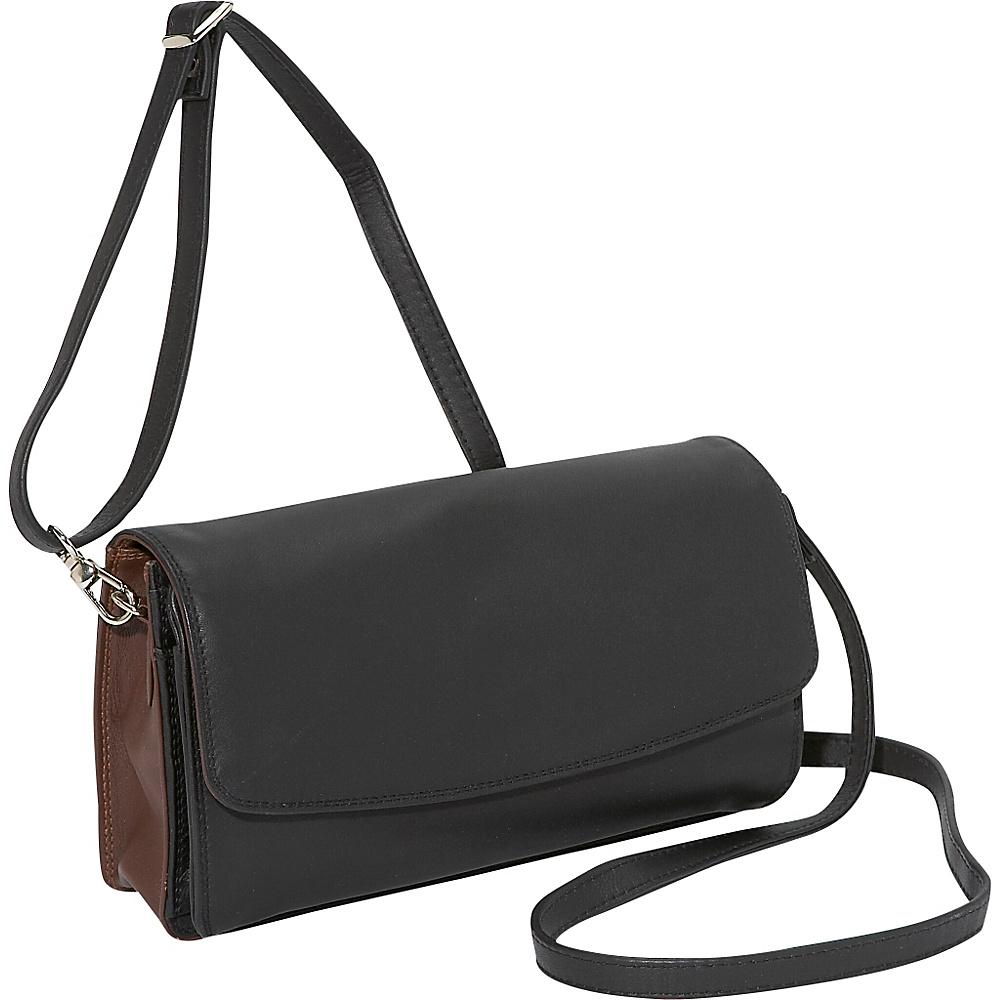 Derek Alexander E/W Organizer Bag - BLACK/BRANDY - Handbags, Leather Handbags