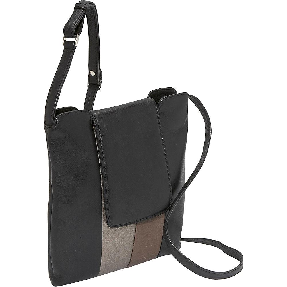 Derek Alexander Metallic Trim N/S Top Zip - Metallic - Handbags, Leather Handbags